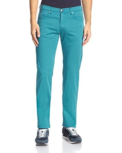 Versace Jeans Men's Garment-Dyed Relaxed Fit Jeans