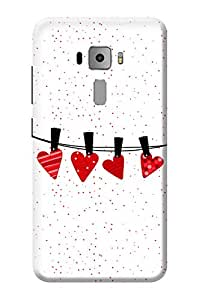 Asus Zenfone 3 Cover KanvasCases Premium Quality Designer Printed 3D Lightweight Slim Matte Finish Hard Case Back Cover for Asus Zenfone 3 ZE552KL ( 5.5 Inch ) + Free Mobile Viewing Stand