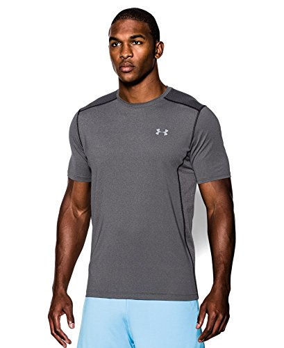 Under Armour Men's Raid Short Sleeve T-Shirt, Carbon Heather/Carbon Heather, Small