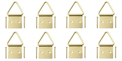 Steel Brass-Plated Triangle Ring Picture Hangers, Qty,8 (Picture Frame Pliers compare prices)