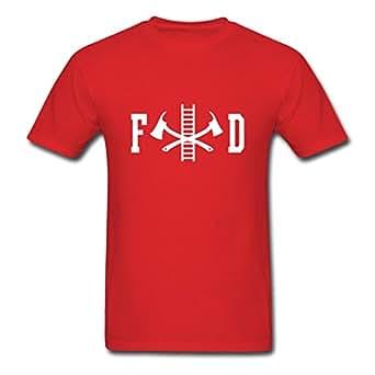 Men 39 s fd fire department for custom design t for Custom fire t shirts