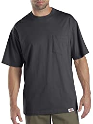 Dickies Men\'s Short Sleeve Pocket T-Shirt 2-Pack, Charcoal, Large