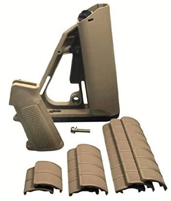 AR-15 Coyote Tan Furniture Kit, Fits MIL SPEC Tube Size