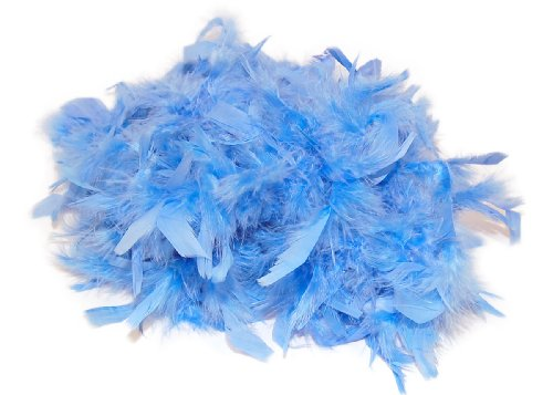 Best Review Of Light Blue - 2yd (6ft | 1.82m) Chandelle Feather Boa Trim (40g)