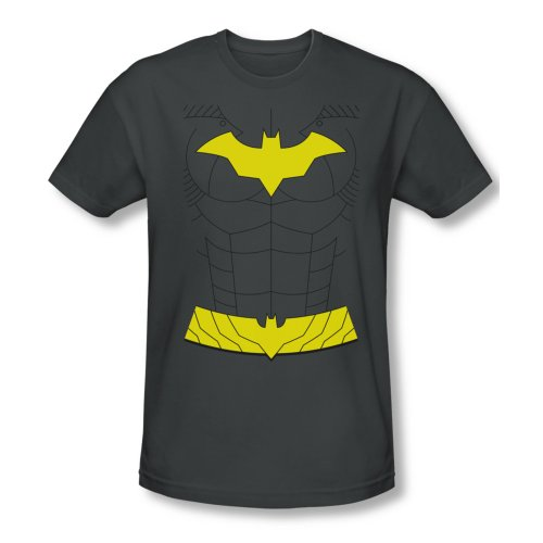 Batman New Batgirl Costume Men's Charcoal Slim Fit T-Shirt