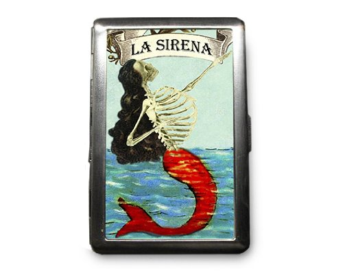 Day of the Dead Skeleton Decorated ID Cigarette Case Wallet - CD402