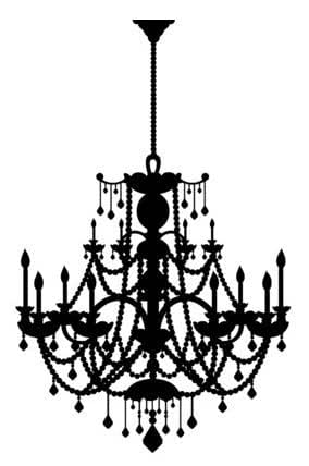 Peel and Stick Wall Decal - Rhinestone Chandelier