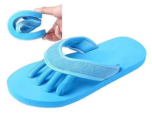 Slip-on Yaga Pantofole Toe separatori doccia sandali da spiaggia mule antiscivolo Sole Ciabatte da piscina bagno Slide per adulti, blu