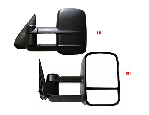 1999-2007 Chevy/GMC Silverado/Sierra Manual & Telescoping Towing Mirror Pair with FREE Hitch Step (2000 Chevy 3500 compare prices)