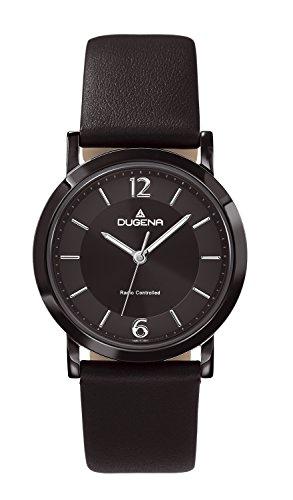 Dugena Damen-Armbanduhr Funk Analog Quarz Leder 4460554
