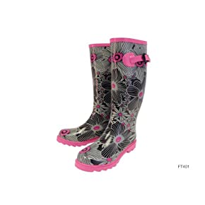 Ladies/Womens Floral Pattern Wellies/Wellington Boots