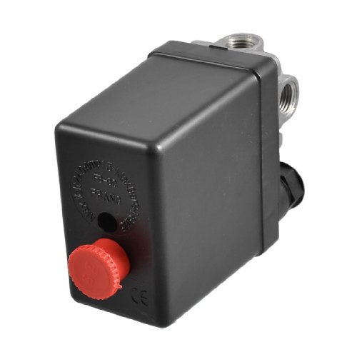 uxcell® Air Compressor Pressure Switch Control Valve 115 PSI 8 Bar 4-port (Air Compressor T Valve compare prices)