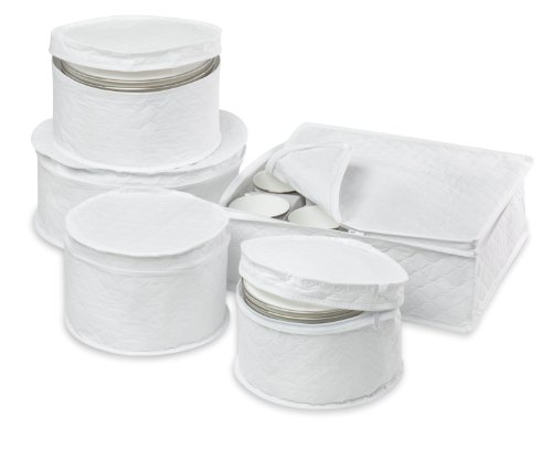 Honey-Can-Do SFT-01630 Dinnerware Storage Set,
