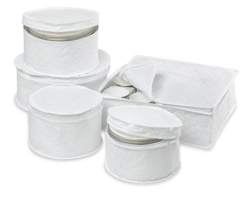 Honey-Can-Do SFT-01630 Dinnerware Storage Set,