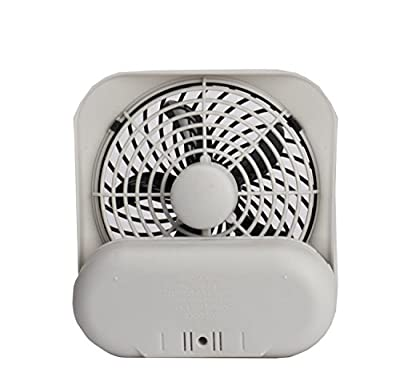 """5"""" Battery Operated Portable Fan, WHITE/GREY"""