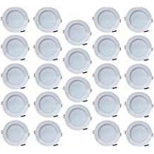 Bene Blaze Virgin Plastic Round Ceiling Light (White, 7w Pack Of 24 Pcs)
