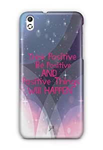 YuBingo Think Positive Mobile Case Back Cover for HTC Desire 816