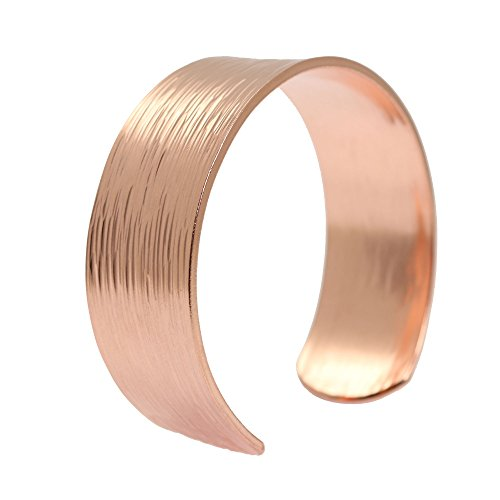 Chased Copper Cuff Bracelet 100% Solid Copper - 7 Year Anniversary Gift