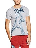Leone 1947 Camiseta Manga Corta Lsm778 (Gris Jaspeado)