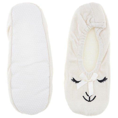 Cheap White Animal Ballerina House Slippers for Women (B009TH2NFA)