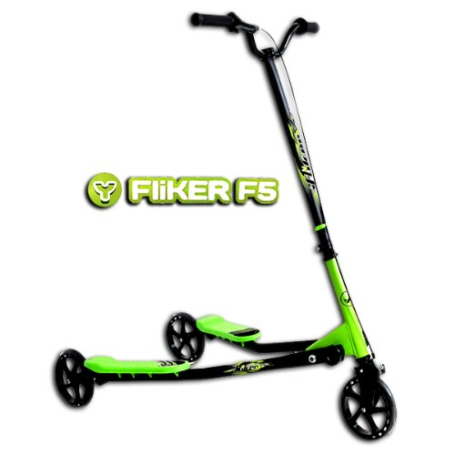 100% Genuine Fliker F5 Scooter For Chldren Aged 9+ In Black And Green