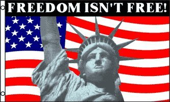 3'X5' Freedom Isn'T Free! Statue Of Liberty American Flag