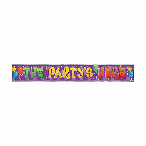12ft Foil The Party's Here Banner