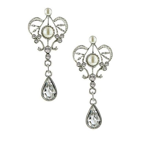 Amore Queens Cut Bridal Earrings