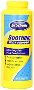 Dr. Scholl's Soothing Foot Powder, 7-Ounce (Pack of 4)