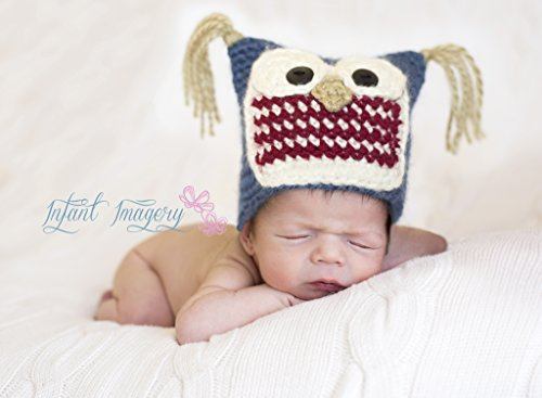 Baby Hoot Hat Crochet Pattern - 5 Sizes Included front-1005291