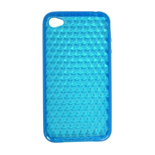 Maximal Power iPhone4G Case BL Silicone Crystal Case for Apple iPhone 4G, Fits AT&T iPhone (Blue)