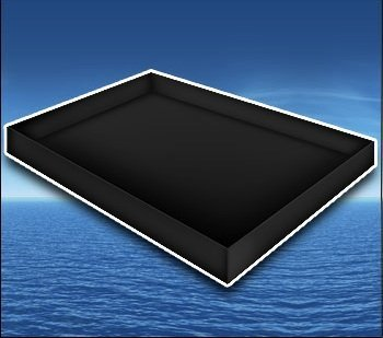 Premium Stand Up Liner Black For Hardside Waterbed Mattress Size: Super Single front-863054