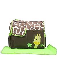Trendy Multi Colour Multi-Purpose Diaper Bag / Nappy Bag With Mat