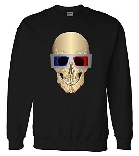 Skull 3D Glasses Sweatshirt Sweater