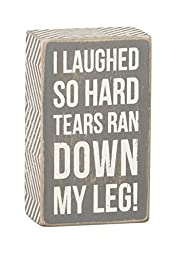 Primitives by Kathy Gray Box Sign, 5-Inch by 3-Inch, Tears Ran Down by Primitives by Kathy