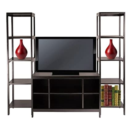 Winsome Wood Hailey 3pc TV Stand Shelf Set