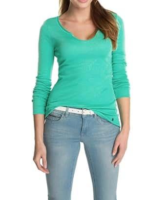 Esprit - T-Shirt - Manches Longues Femme - Vert - Grün (Scooter Green) - FR : 36 (Taille Fabricant : XS) (Brand size : Herstellergröße : XS)