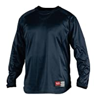 Rawlings Youth Dugout Fleece Pullover (Navy, Large)