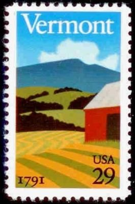 Vermont Statehood 29 cent us Postage Stamps #2533