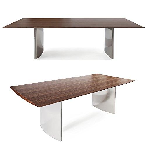 Massiver-Esstisch-MIRACLE-200cm-Symbiose-Walnuss-und-Edelstahl-Esszimmer-Tisch