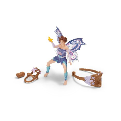 Schleich Elf Riding Set with Limeya Figurine