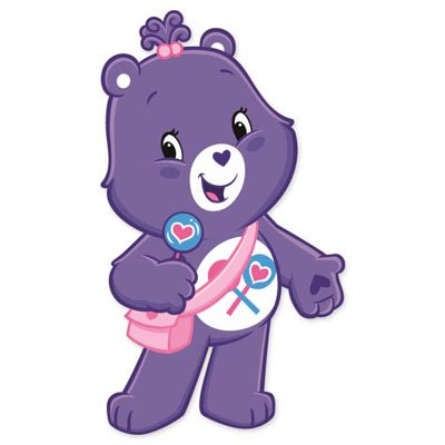 """Care Bears Care-A-Lot Bear Vynil Car Sticker 3"""" X 6"""" front-770485"""