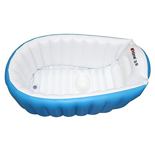signstek baby infant travel inflatable non slip bathing tub bathtub blue toddler bathtubs seats. Black Bedroom Furniture Sets. Home Design Ideas