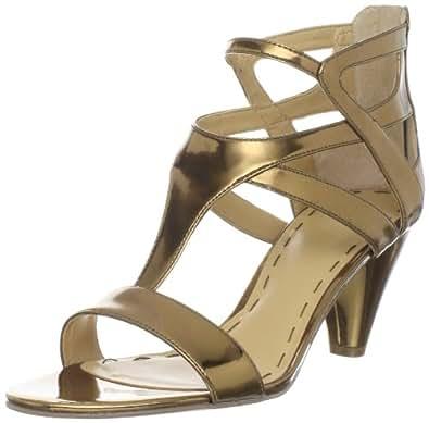 Nine West Women's Fanicky Ankle-Strap Sandal,Bronze,5 M US