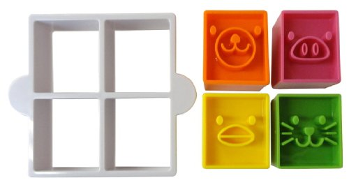 Torune Bento Sandwich Cutter Mold, Animal Face