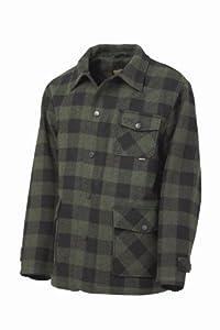 Irish Setter Men's Deer Camp Wool-Blend Field Coat (Green/Black Plaid, XX-Large)