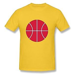 Custom Make Basketball Men's O-Neck T-shirt Gold
