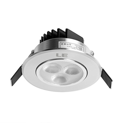 Le 3W 3-Inch Led Recessed Ceiling Light, 30W Halogen Bulbs Equivalent, Warm White, Led Spotlights, Recessed Lighting