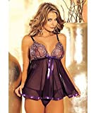Risque Collection Sheer Net Babydoll with G-String thumbnail