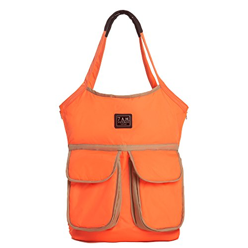 7AM Enfant Barcelona Diaper Bag, Neon Orange